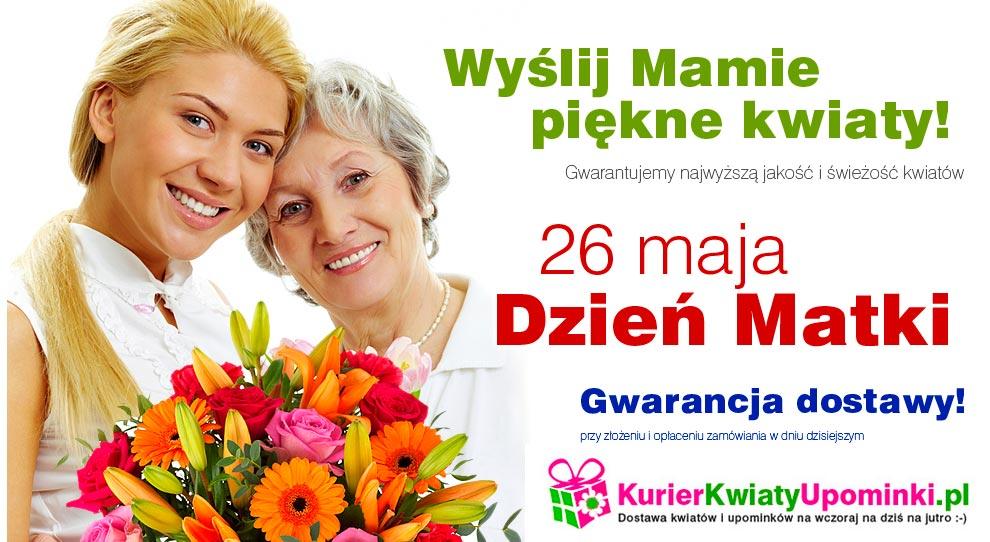 Kwiaty na Dzień Matki dostawa wysyłka kwiatów