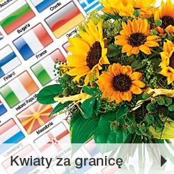 Wysyłka kwiatów za granicę Poczta Kwiatowo-Upominkowa
