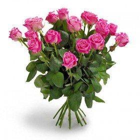 Bukiet 18 róż różowych - Gdańsk Gdynia