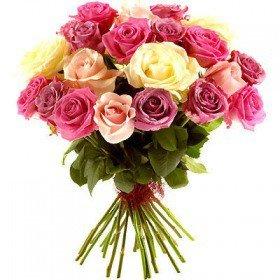 Bukiet 24 Róż Kolorowych Poczta kwiaty Częstochowa