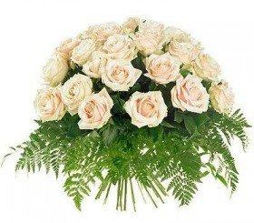 Bukiet 25 Róż Kremowych