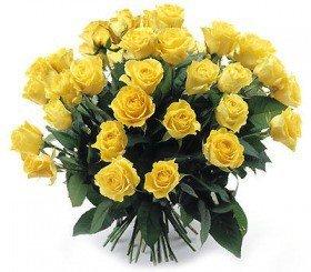 Bukiet 35 Róż Żółtych
