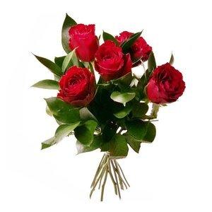Łódź Bukiet 5 Róż Walentynki