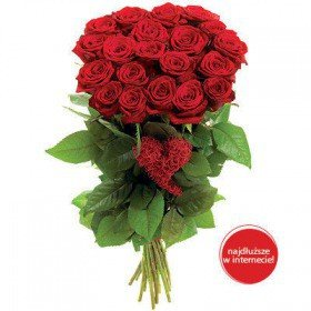 Bukiet - Różane Serce Walentynki Radom
