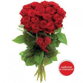 Bukiet - Różane Serce Walentynki Koszalin