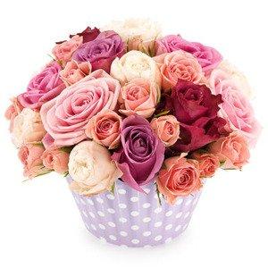 """Kompozycja """"Różowe róże"""""""